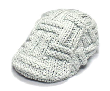 City Hunter Ck1000 Solid Tangle Knit Ivy Hat - Light Grey
