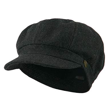 Wool Solid Spitfire Hat - Dark Grey