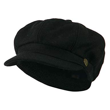 Wool Solid Spitfire Hat - Black