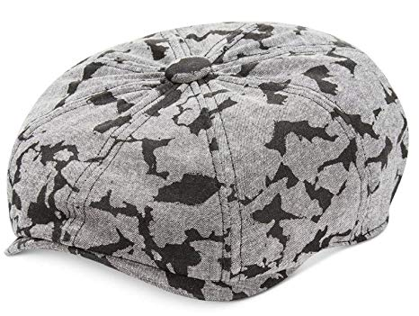 Rocawear Men's Camouflage Run Chambray Newsboy Cap Black Cambray