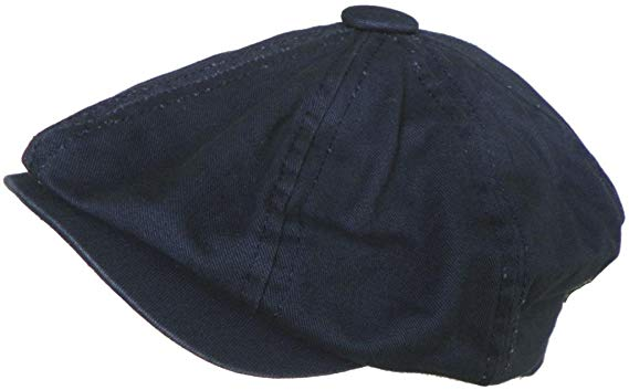 Broner 8/4 Apple Jack Cap Cotton Newsboy Hat (Navy, Medium)