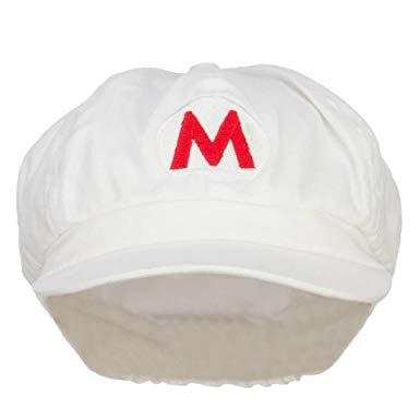 Fire Mario Luigi Embroidered Newsboy Cap