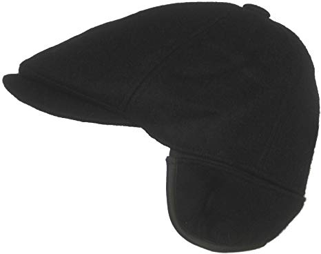 Dorfman Pacific Wool Ivy Scally Cap with Ear Flap Winter Driving Hat