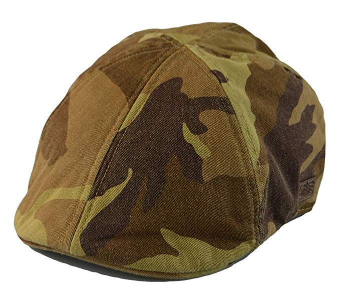 Mens Vintage Look 6pannel Duck Bill Curved Ivy Drivers Hat One Size 4 Colors