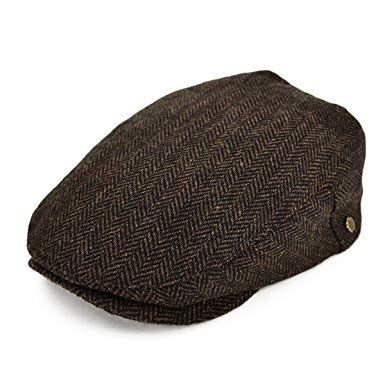 VOBOOM Wool Tweed Flat Cap Herringbone Newsboy caps Cabbie Hat