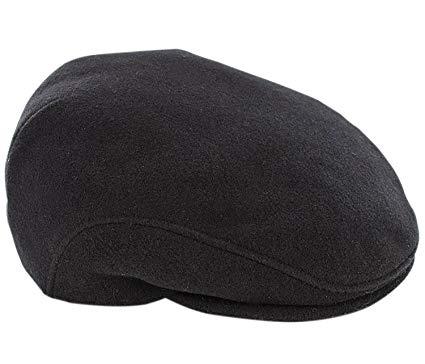 Mucros Weavers Trinity Tweed Flat Cap-Black Colour