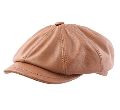 Classic Italy Montreal 2 Leather Flat Cap