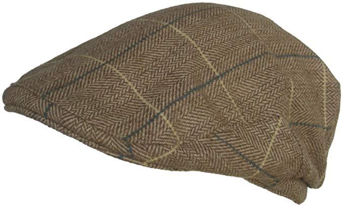 Cappello Wool Blend Classic Ivy Scally Cap Herringbone Plaid Winter Driver Hat