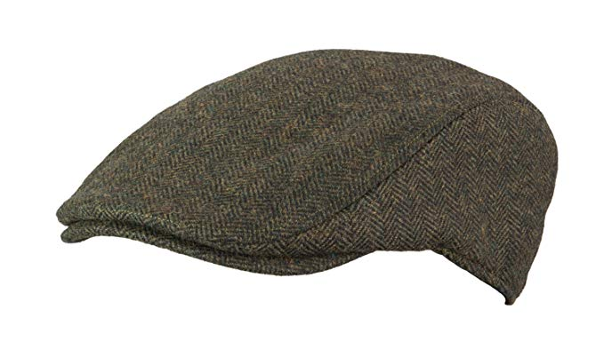 Broner Mens Herringbone Ivy Cap with Small Floral Print Satin Lining