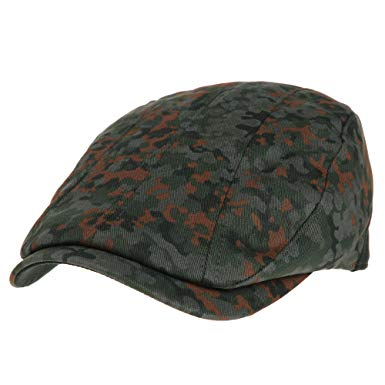 WITHMOONS Mens Flat Cap Camouflage Vertical Stitch Ivy Hat LD3438