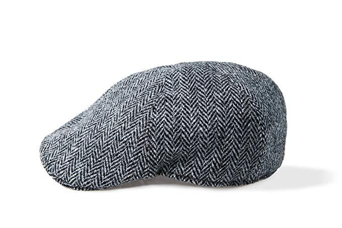 Boyne Valley Knitwear Harris Tweed Touring Cap by