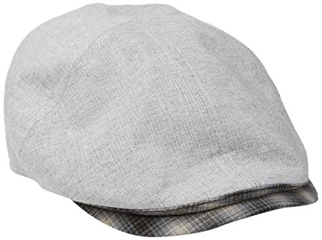 Country Gentleman Men's Roman Panelled Cap with Plaid Brim