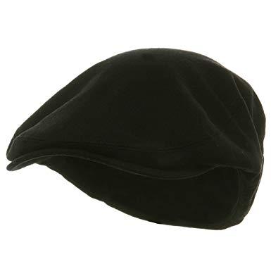 Big Size Elastic Wool Ivy Cap - Black W07S38B