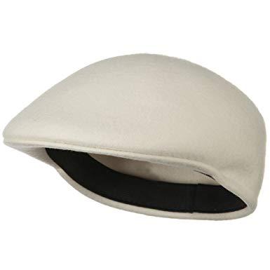 Wool Felt Ivy Cap - White W10S51F