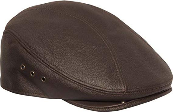 Genuine Made In The USA Leather Ivy Flat Cap