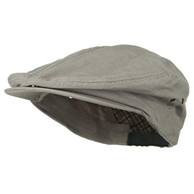 Oversize Washed Canvas Ivy Cap - Light Grey (For Big Head)