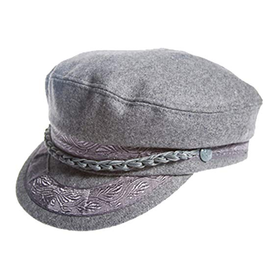 Dorfman Pacific Aegean Mens Grey Wool Greek Fisherman Cap Grey