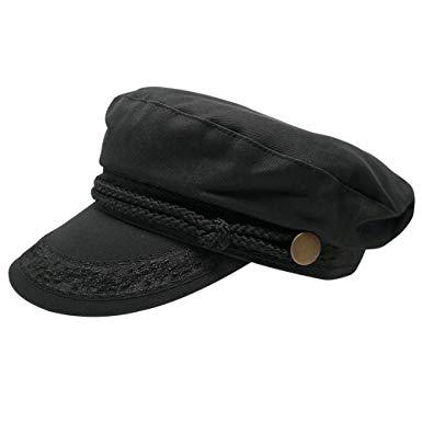 Men's Greek Fisherman Cotton Twill Hat - Black