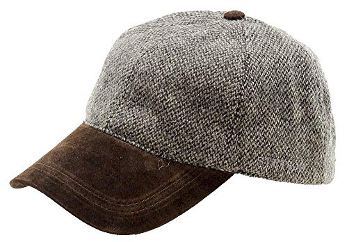 Stetson Mens Wool Blend Cap with Suede Peak