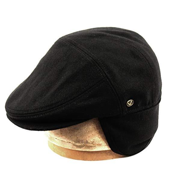 Epoch hats 100% Wool Herringbone Winter IVY Cabbie Hat w/Fleece Earflaps – Driving Hat