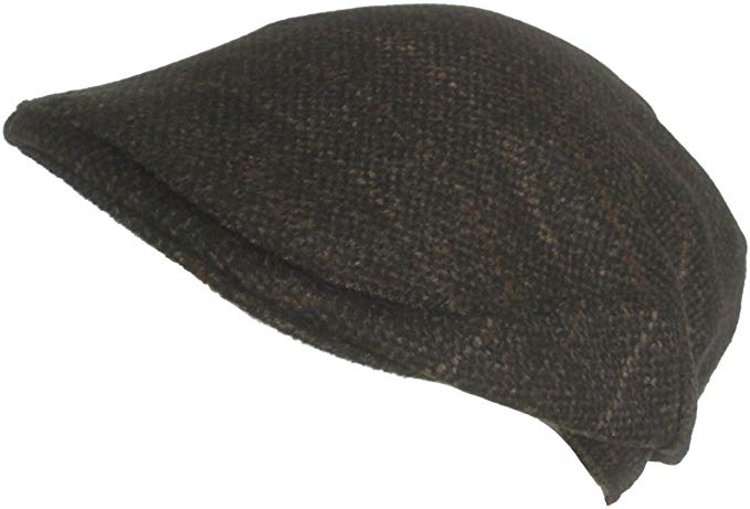 Cappello Wool Blend Plaid Winter Ivy Scally Cap Classic Driver Hat