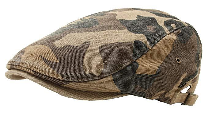 ATOBAO Camouflage Gatsby Driving Flat Cap Military Irish IVY newsboy Hunting Hat