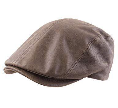 Classic Italy Country Leather Flat Cap