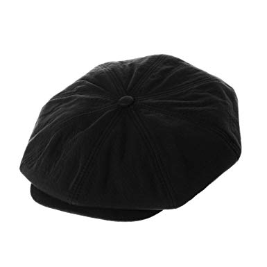 WITHMOONS Cool Cotton Baker Boy Flat Cap Monochrome Beret Ivy Hat LD3603