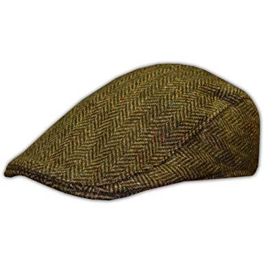 Men's Hanna Tweed Cap, Handmade in Ireland, Brown