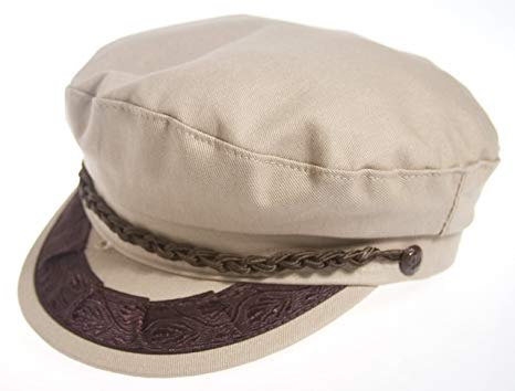 Aegean Authentic Greek Fisherman's Cap - Cotton - Khaki
