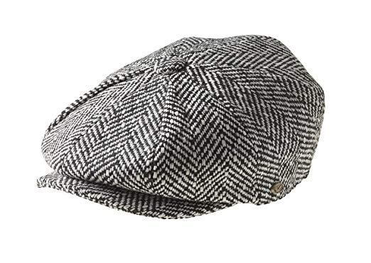 Peaky Blinders Men's 8 Piece 'Newsboy' Style Flat Cap Wool